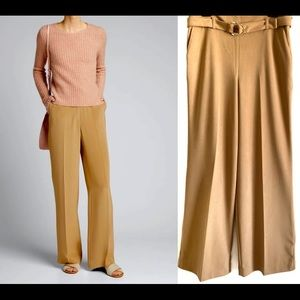 Calvin Klein belted wide leg pants size 10 NWT